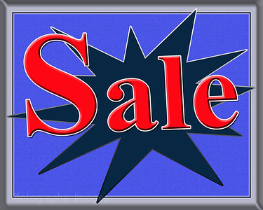 Sale Sign Blue & Orange