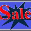 Sale Sign Blue & Orange