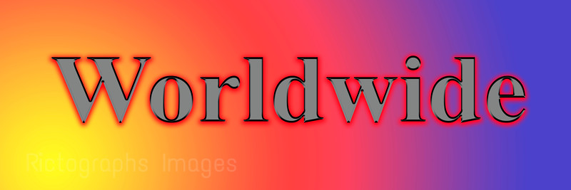 Yellow Orange, Red, Blue Worldwide