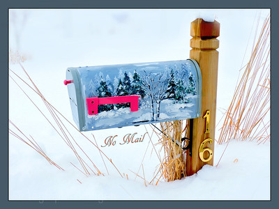 Winter, Mail Box,