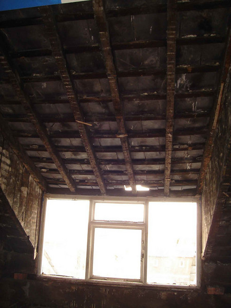 once the ceiling was removed the lack of structure to the dormer became apparent