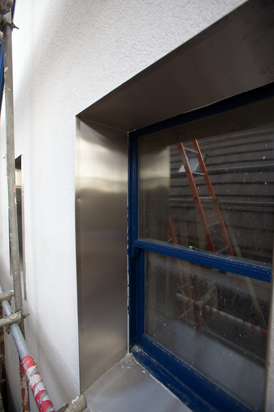 stainless steel window reveal