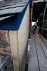 edge detail of wood fibre external insulation before render