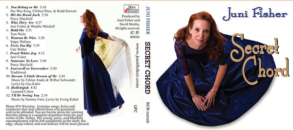 "March 2012 Juni Fisher Design of 4-panel digipack plus disc ""Secret Chord"""