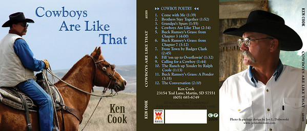 "March 2009 Ken Cook Jacket & CD Design ""Cowboy's Are Like That"""