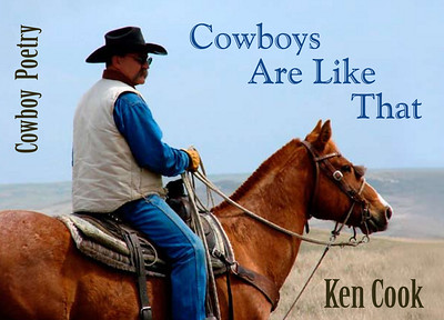 "March 2009 Postcard Announcing Ken Cook's New Poetry Album ""Cowboy's Are Like That""  (Sabina Frutiger photo)"