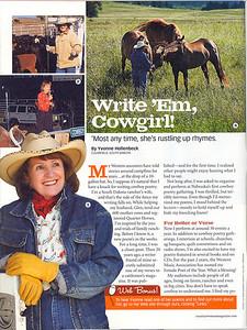 "COUNTRY WOMAN November 2008  ""Write 'em, Cowgirl"" Photos"