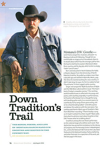 "AMERICAN COWBOY July/August 2006  Trailblazer Photos ""Down Tradition's Trail"" DW Groethe, page 14"