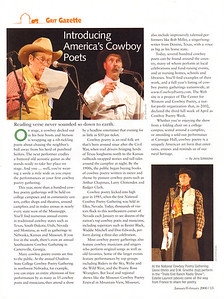 "GRIT January/February 2008  Grit Gazette Photos  ""Introducing American's Cowboy Poets,"" page 13"