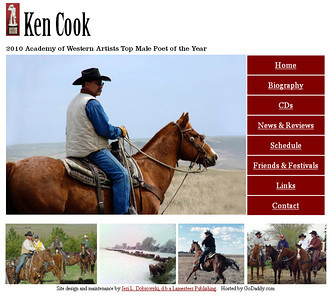 May 2011 - Present Ken Cook Martin, South Dakota  http://www.kencookcowboypoet.com  Developed and maintain website using Microsoft Office Frontpage.