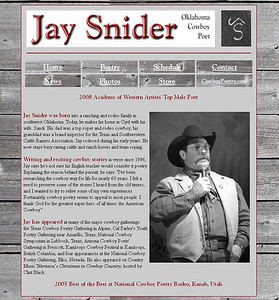 November 2010 - Present Jay Snider Cyril, Oklahoma   http://www.jaysnider.net  Developed and maintain website using Microsoft Office Frontpage.