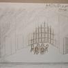 Act 1 Sc 2: Wood panelling projection upstage, DSL door open.