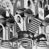 MC Escher: archways and steps.