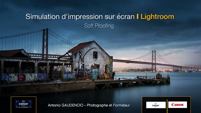 Simulation Impression sur écran Lighroom par Antonio GAUDENCIO