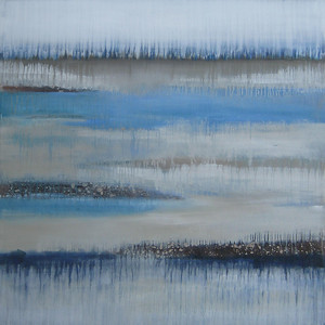 """Along the Sandy Shore, 60""""x60"""" painting on canvas"""