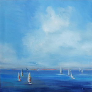 """Catch the Wind, 40""""x40"""" painting on canvas"""