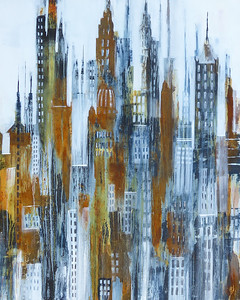 """London Calling, 41""""x41"""" painting on canvas"""