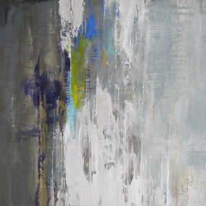 """Morse Code, 40""""x40"""" painting on canvas"""