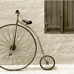 "Print title:  ""  PENNYFARTHING  BICYCLE  ""  /  © Gj"