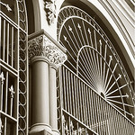 "Print title:  ""  VICTORIAN GATE ""  /  SEPIA  /   © Gj"