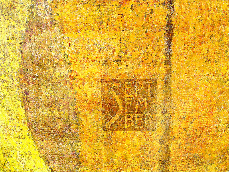 """Print title:  """"  SEPTEMBER MOSAIC  """"  /  FILE #  _MG_5599  /  © Gj"""