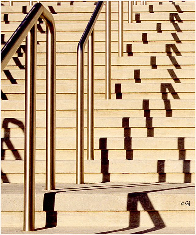 "Print title:  ""   STAIRCASE & SHADOWS  ""  /  © Gj"
