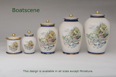 Boat scene.........Available in Small,  Medium,    3 Litre,  Large,  Double & Memento Jar.  Not Available in  Miniature size.