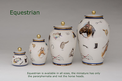 Equestrian.........Available in Miniature,  Small,  Midi,  Medium,   3 Litre,  Large,  Double & Memento Jar.