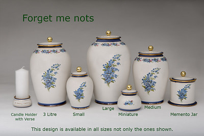 Forget me nots.........Available in Miniature,  Small,  Midi,  Medium,   3 Litre,  Large,  Double & Memento Jar.