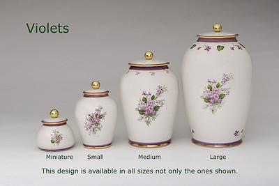 Violets.........Available in Miniature,  Small,  Midi,  Medium,   3 Litre,  Large,  Double & Memento Jar.
