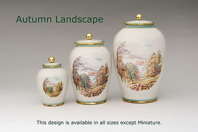 Autumn Landscape. Available in Small,  Medium,   3 Litre,  Large,  Double & Memento Jar. Not Available in  Miniature size.