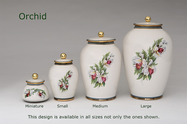 Orchid............Available in Miniature, Small, Midi, Medium,   3 Litre, Large, Double & Memento Jar.