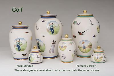 Golf.............Available in Miniature,  Small,  Midi,  Medium,   3 Litre,  Large,  Double & Memento Jar.