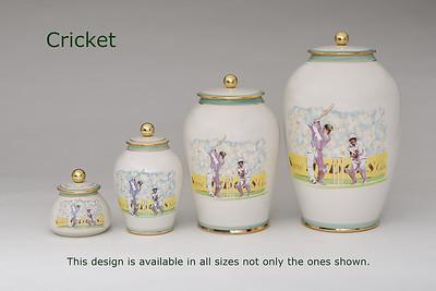 Cricket.........Available in Miniature,  Small,  Midi,  Medium,   3 Litre,  Large,  Double & Memento Jar.