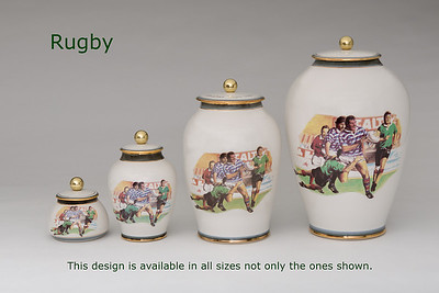 Rugby.............Available in Miniature,  Small,  Midi,  Medium,   3 Litre,  Large,  Double & Memento Jar.
