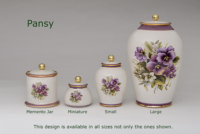 Pansy.............Available in Miniature,  Small,  Midi,  Medium,   3 Litre,  Large,  Double & Memento Jar.