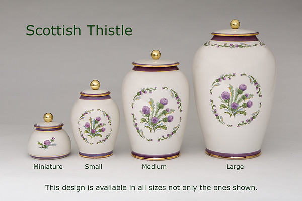 Scottish Thistle............Available in Miniature, Small, Midi, Medium,   3 Litre, Large, Double & Memento Jar.
