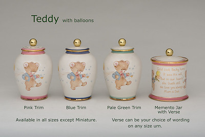 Teddy .........Available in  Small,  Midi,  Medium,   3 Litre,  Large, & Memento Jar. Not available in Miniature size.