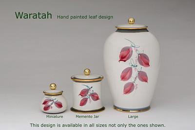 Waratah Leaf.........Available in Miniature,  Small,  Midi,  Medium,   3 Litre,  Large,  Double & Memento Jar.