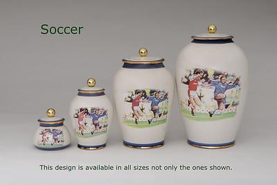 Soccer.........Available in Miniature,  Small,  Midi,  Medium,   3 Litre,  Large,  Double & Memento Jar.