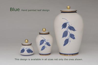 Blue Leaf.........Available in Miniature,  Small,  Midi,  Medium,   3 Litre,  Large,  Double & Memento Jar.