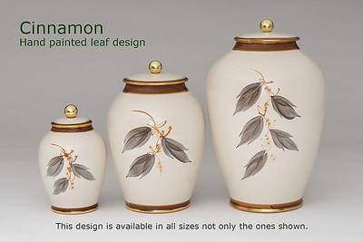 Cinnamon Leaf.........Available in Miniature,  Small,  Midi,  Medium,   3 Litre,  Large,  Double & Memento Jar.