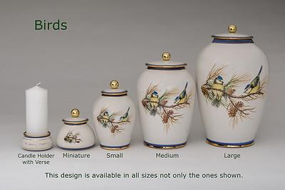 Birds.............Available in Miniature,  Small,  Midi,  Medium,   3 Litre,  Large,  Double & Memento Jar.