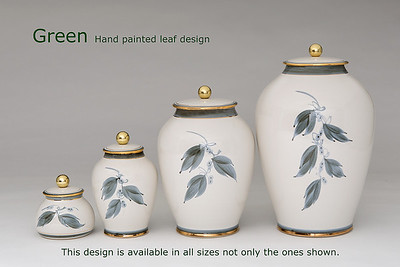 Green Leaf..........Available in Miniature,  Small,  Midi,  Medium,   3 Litre,  Large,  Double & Memento Jar.