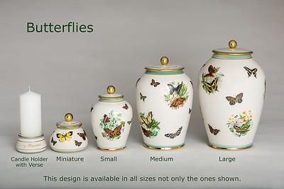 Butterflies.........Available in Miniature,  Small,  Midi,  Medium,   3 Litre,  Large,  Double & Memento Jar.