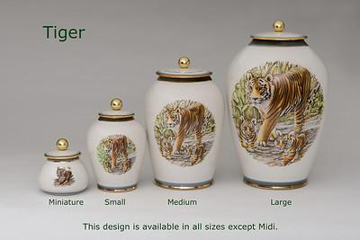 Tiger............Available in Miniature,  Small, Midi,  Medium,   3 Litre,  Large,  Double & Memento Jar.