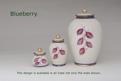 Blueberry Leaf.........Available in Miniature,  Small,  Midi,  Medium,   3 Litre,  Large,  Double & Memento Jar.