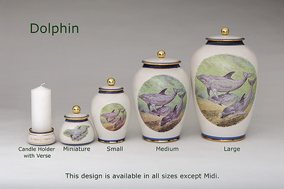 Dolphin...........Available in Miniature,  Small,  Medium,   3 Litre,  Large,  Double & Memento Jar.