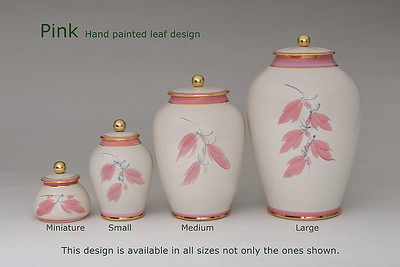 Pink Leaf.........Available in Miniature,  Small,  Midi,  Medium,   3 Litre,  Large,  Double & Memento Jar.