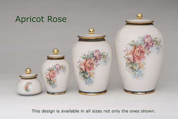 Apricot Rose ........Available in Miniature,  Small, Midi,  Medium, 3 Litre,  Large,  Double & Memento Jar.